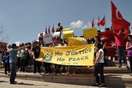Kırıkkale'de 'Taksim Gezi Parkı' protestosu