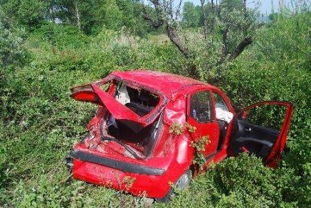 Kontrolden çıkan aracıyla zeytinliğe uçan sürücü öldü