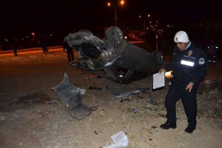 Kozan'da otomobil takla attı: 1 yaralı