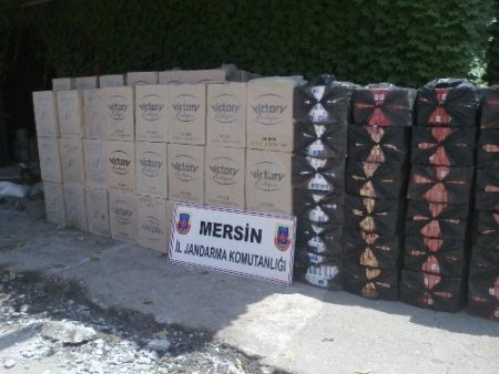 Kuru soğan çuvallarının altından 50 bin paket kaçak sigara çıktı