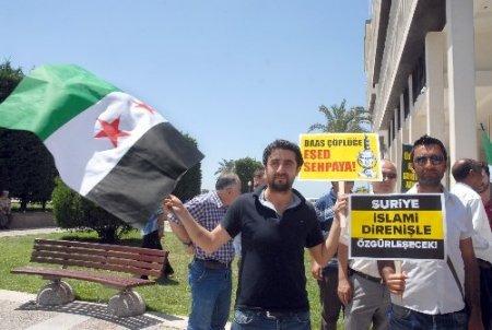 Lübnan Hizbullahı'na İzmir'den protesto