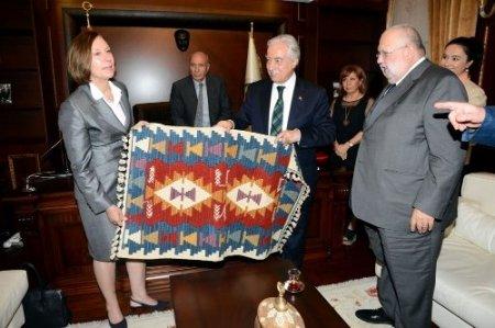 Lüksemburg Büyükelçisi Conzemius, Zihni Aldırmaz'ı ziyaret etti