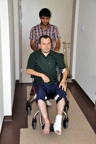 Maganda kurşunu tıp öğrencisini yaraladı
