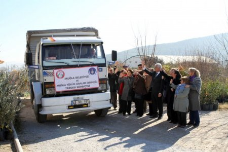 Muğlalılar Suriye'den kaçan Yörük Türkmenlerine yardım gönderdi
