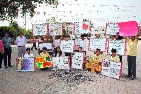 Öğrenciler, atık pilin çevreye verdiği zarara dikkat çekti