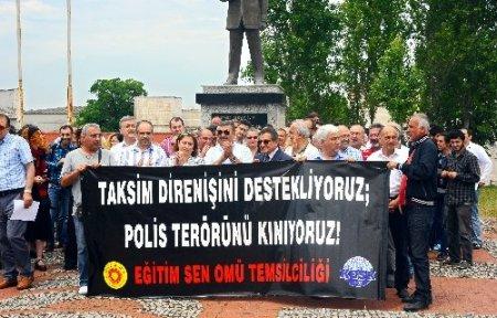 OMÜ öğretim görevlilerinden protesto