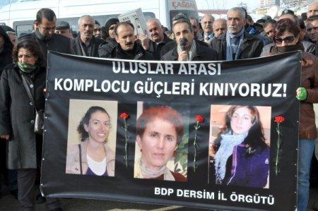 Paris'te 3 kadının öldürülmesi Tunceli'de protesto edildi