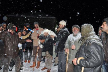 Patnos'ta rahatsızlanan hastaya 8 saat sonra ulaşıldı