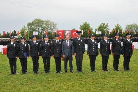 Samsun'da 536 polis adayı mezuniyet coşkusu yaşadı