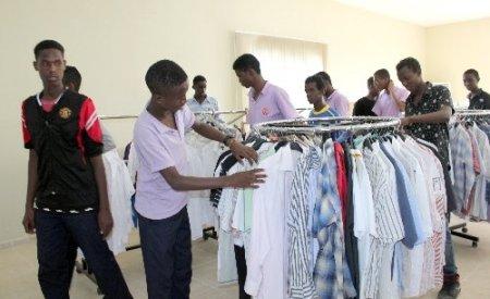 Somalili öğrenciler, ülkelerine dönmeden önce sevindirildi