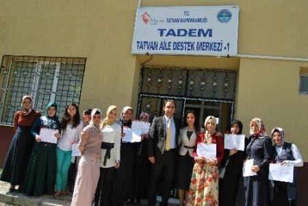 TADEM kursiyerlerine sertifikaları verildi