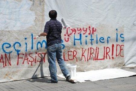 Taksim esnafı şiddet mağduru (Özel)