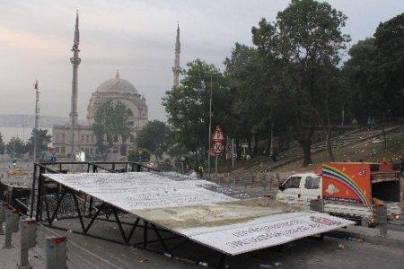 Taksim ve çevresi savaş alanına döndü