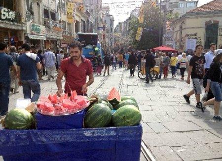 Taksim'i işbortacılar bastı