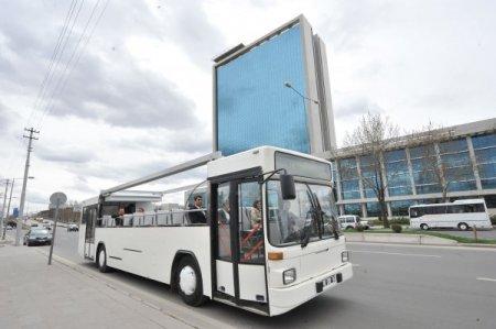 Turistler ankara yı üstü açık otobüslerle gezecek
