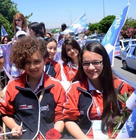 Türkçenin Çocukları Gaziantep'te konvoylar eşliğinde karşılandı