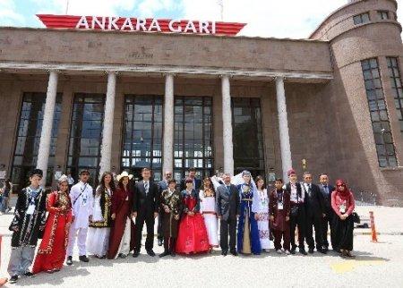 Türkçenin çocuklarından TCDD'ye ziyaret