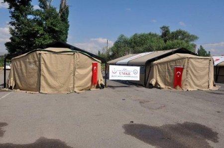 UMKE'den mobil sahra hastanesi tatbikatı
