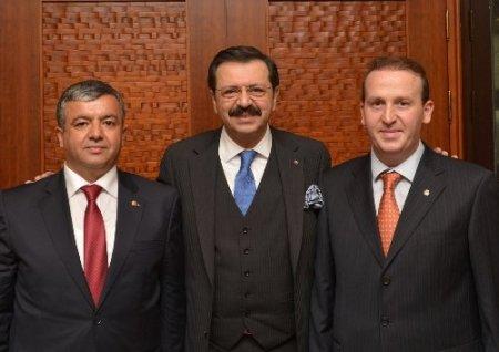 ÜTB yönetiminde Hisarcıklıoğlu'na ziyaret