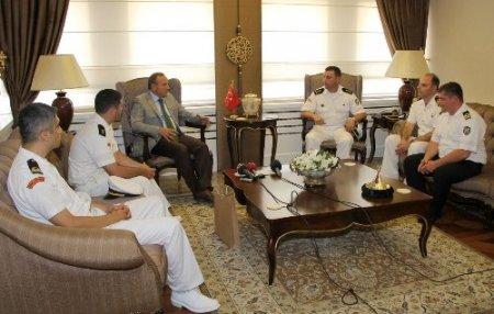 Vali Kızılcık, Gürcistan Sahil Güvenlik Komutanı Bigvava'yı kabul etti