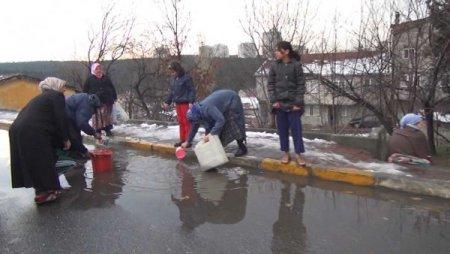 Yangına kar suyuyla müdahale (Özel)