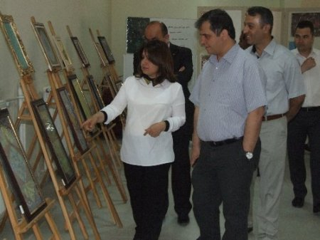 Yerköy'de ebru sergisi açıldı