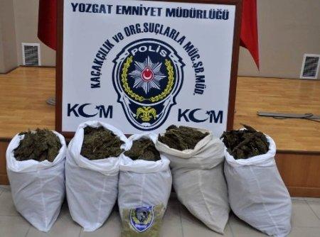 Yozgat polisi 73 kilo kubar esrar ele geçirdi