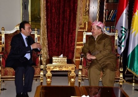 Yurt dışı yasağı kalkan Osman Baydemir, Barzani'yi ziyaret etti