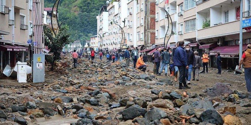 Giresun'da meydana gelen sel sonrası Karadeniz