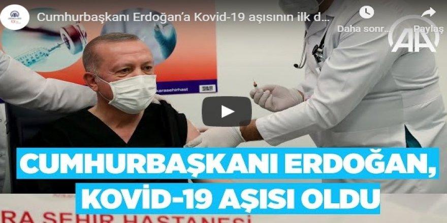 Cumhurbaşkanı Erdoğan'a Kovid-19 aşısının ilk dozu uygulandı