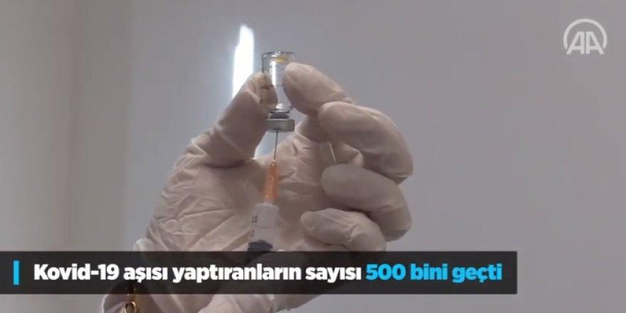 Kovid 19 aşısı yaptıranların sayısı 500 bini geçti!